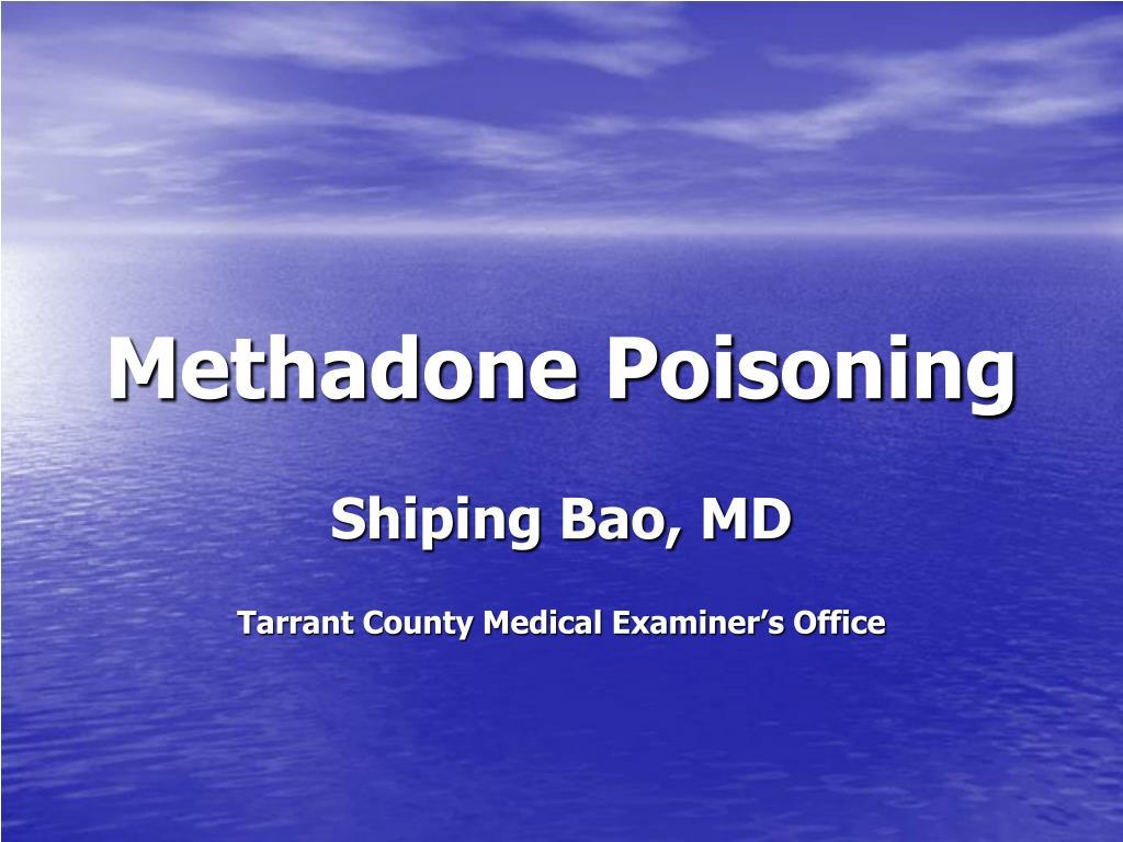Methadone Poisoning
