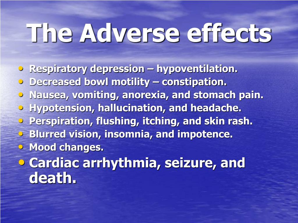 The Adverse effects
