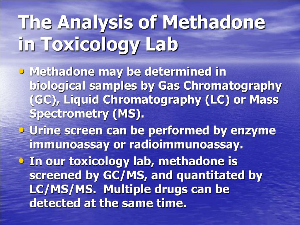 The Analysis of Methadone