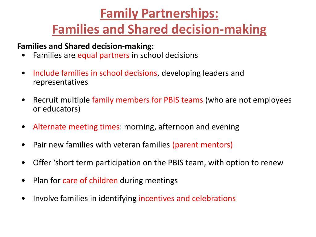 Family Partnerships: