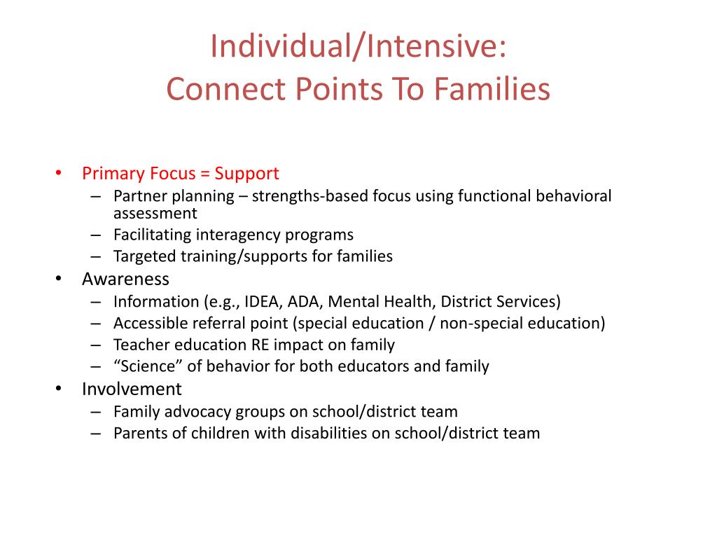 Individual/Intensive: