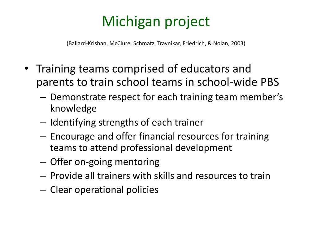 Michigan project