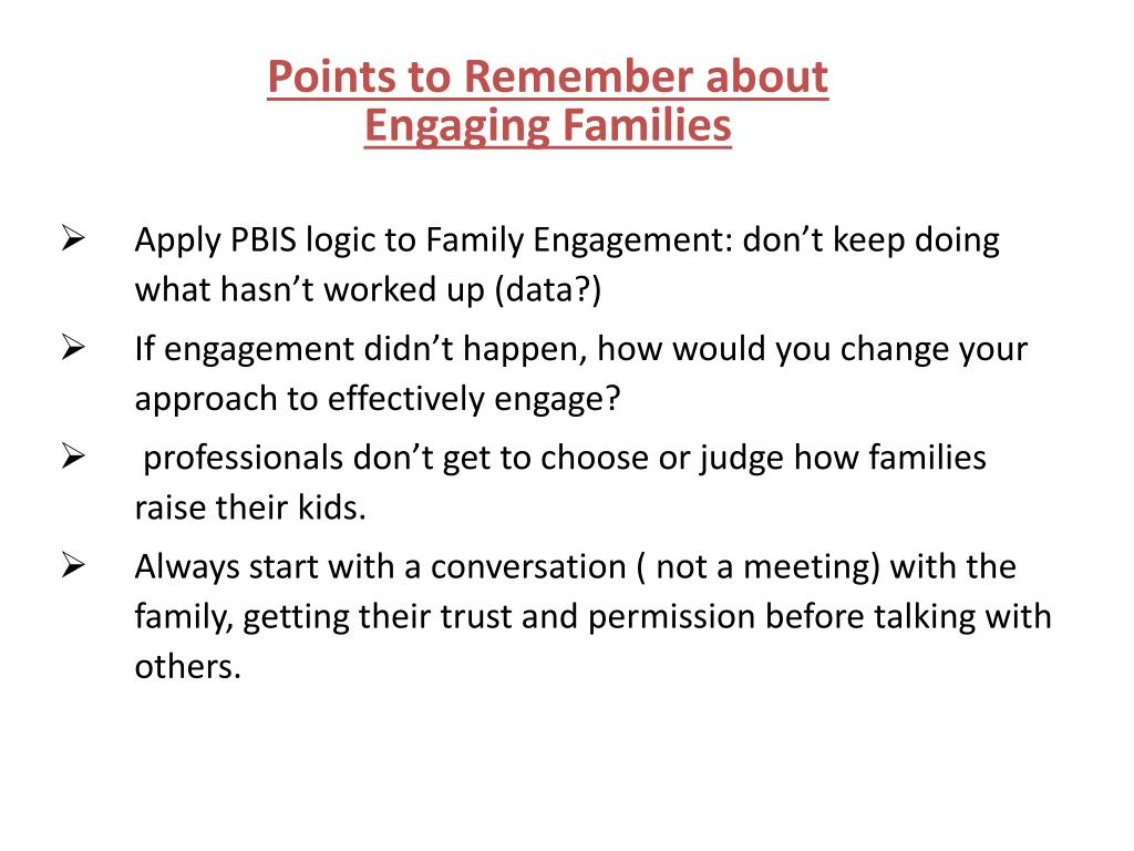 Points to Remember about