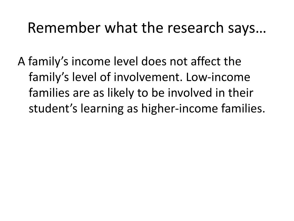 Remember what the research says…