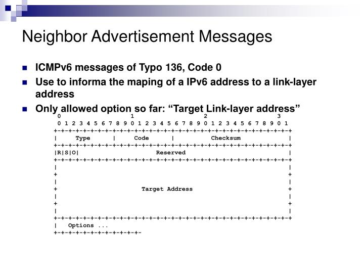Neighbor Advertisement Messages