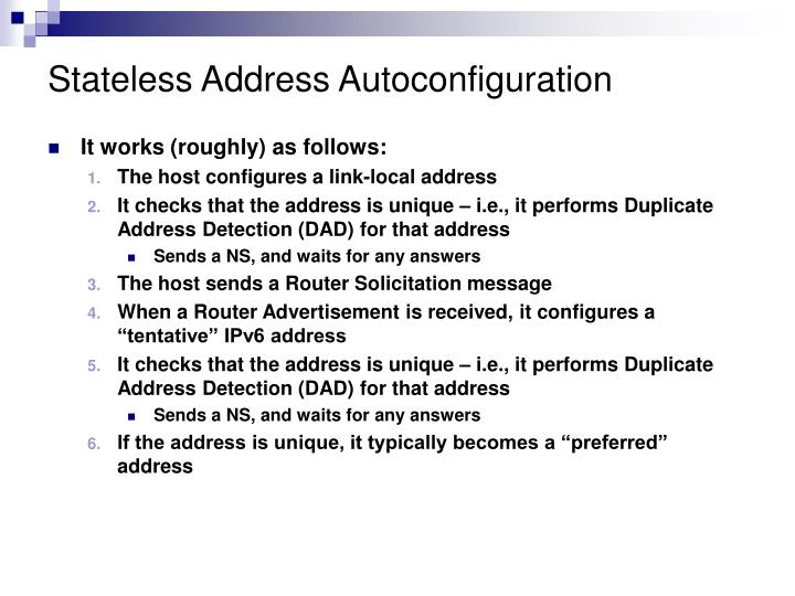 Stateless Address Autoconfiguration