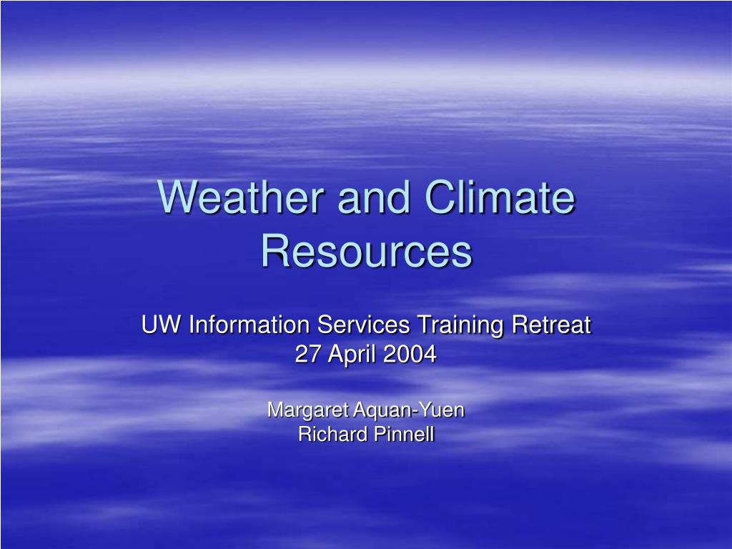 weather and climate resources l.