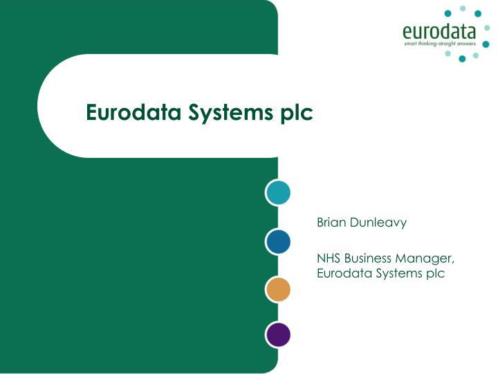 Eurodata systems plc