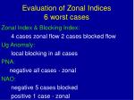 evaluation of zonal indices 6 worst cases