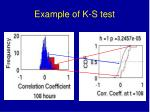 example of k s test