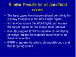 similar results for all good bad cases