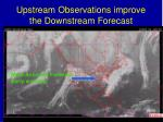 upstream observations improve the downstream forecast