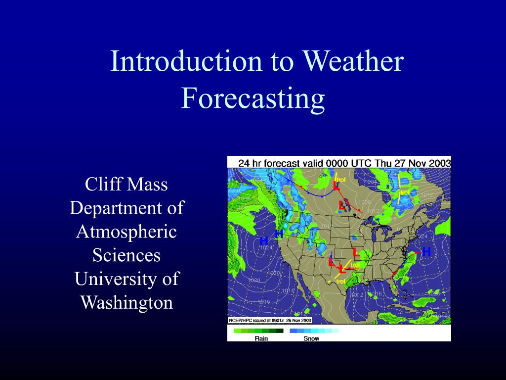 introduction to weather forecasting l.