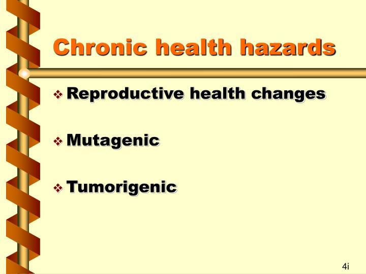 Chronic health hazards