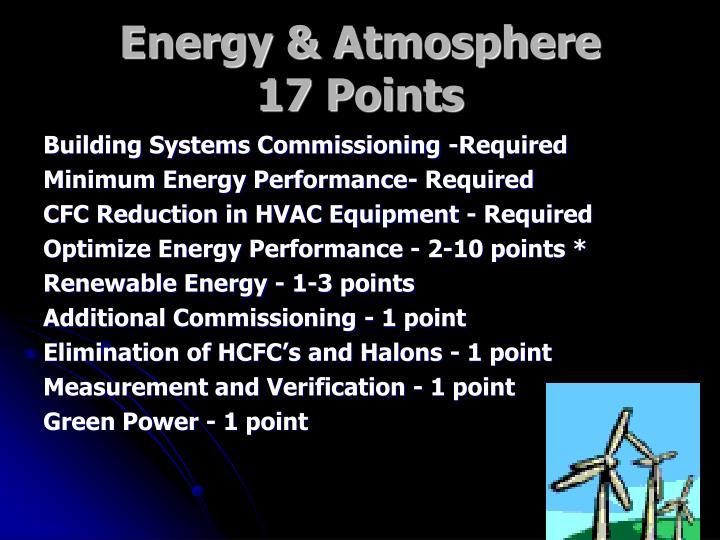 Energy & Atmosphere