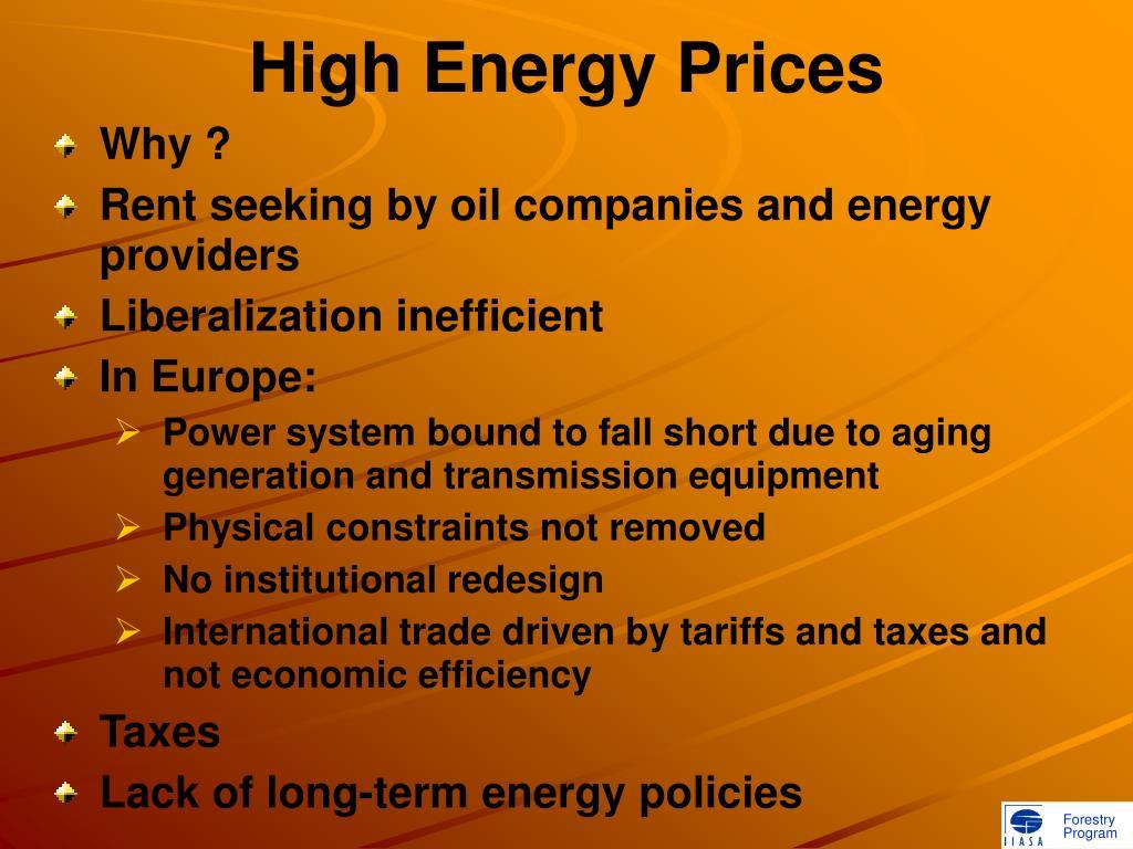 High Energy Prices