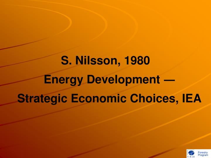 S. Nilsson, 1980