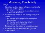 monitoring fire activity