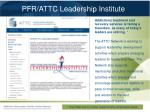 pfr attc leadership institute