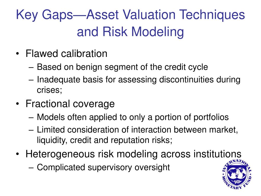 Key Gaps—Asset Valuation Techniques and Risk Modeling
