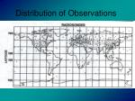 distribution of observations13
