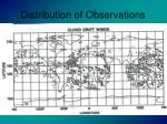 distribution of observations16