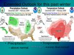 extended outlook for this past winter