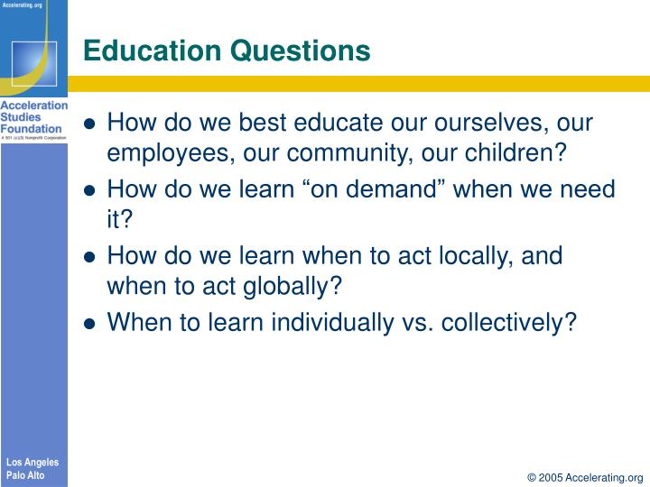 Education Questions