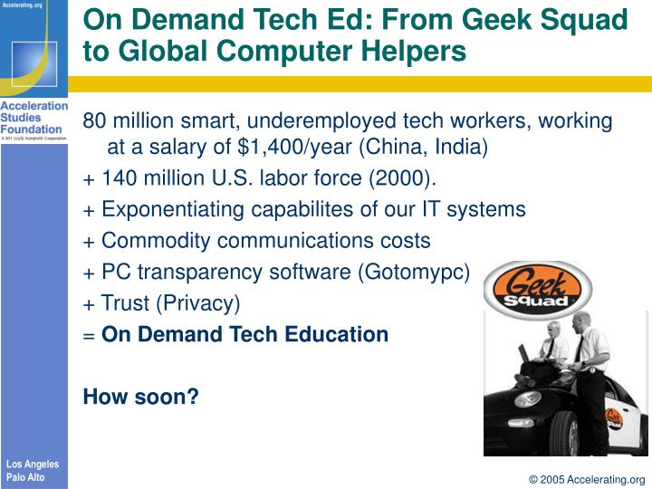 On Demand Tech Ed: From Geek Squad to Global Computer Helpers