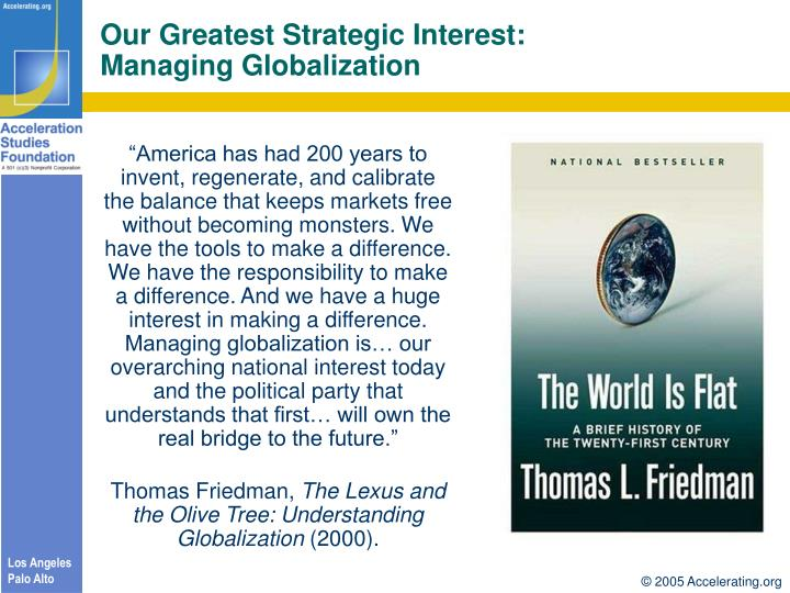 Our Greatest Strategic Interest: