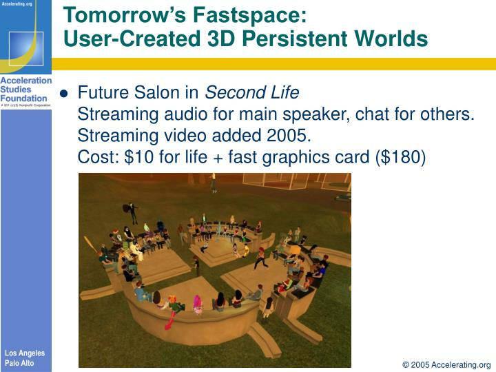 Tomorrow's Fastspace: