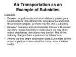 air transportation as an example of subsidies