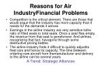 reasons for air industryfinancial problems