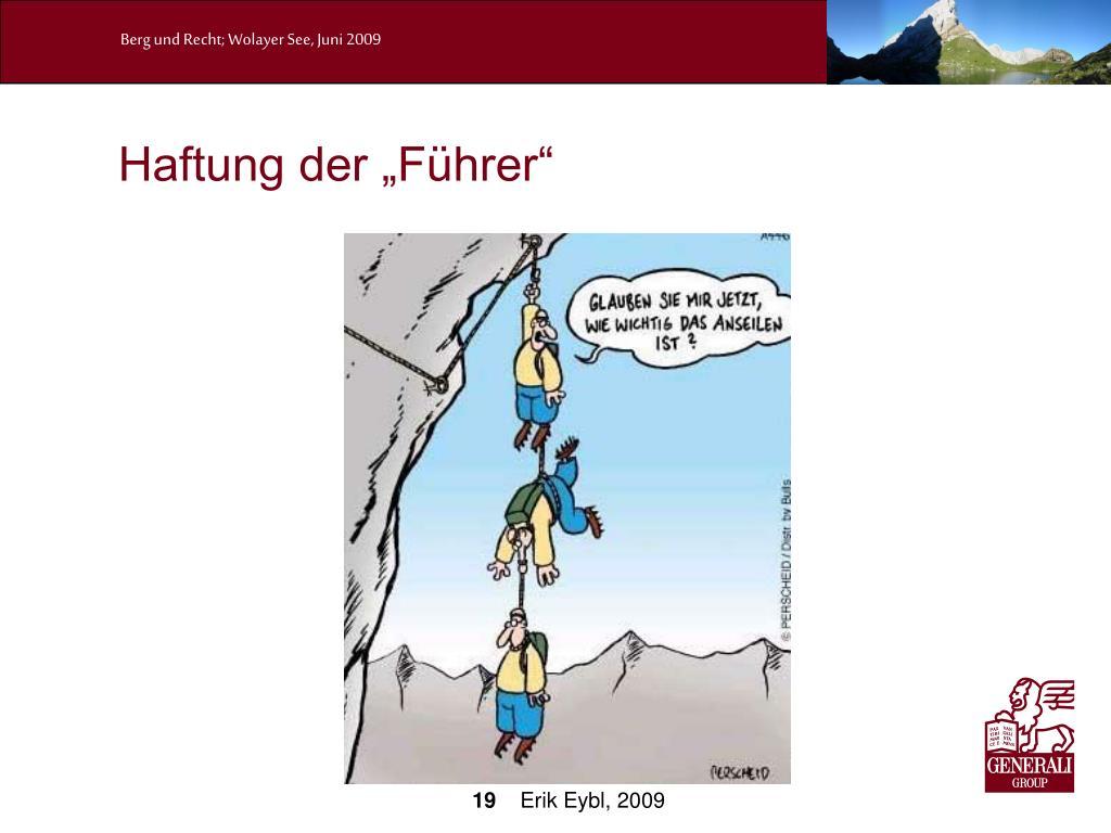 """Haftung der """"Führer"""""""