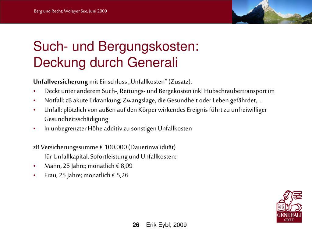 Such- und Bergungskosten: