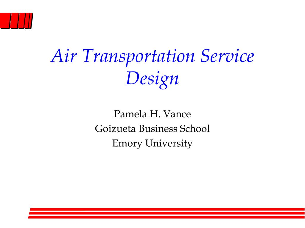 air transportation service design l.