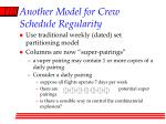 another model for crew schedule regularity