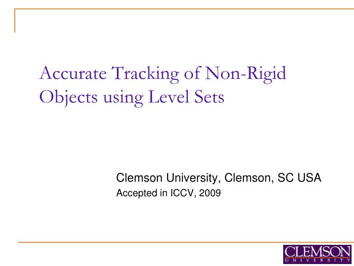 Accurate tracking of non rigid objects using level sets