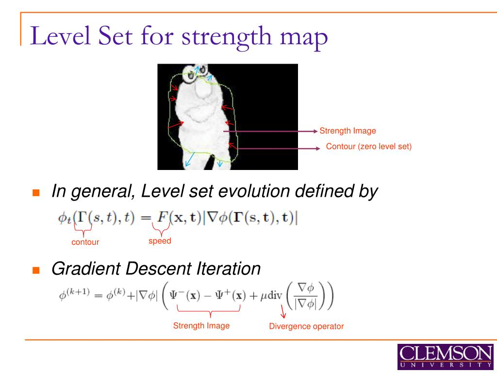 Level Set for strength map