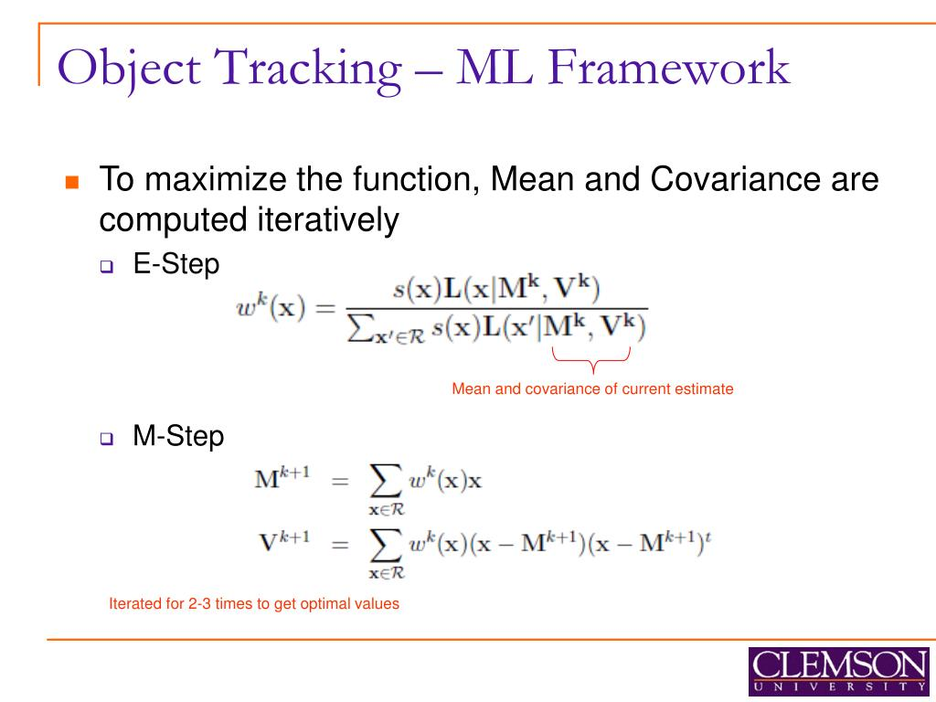 Object Tracking – ML Framework