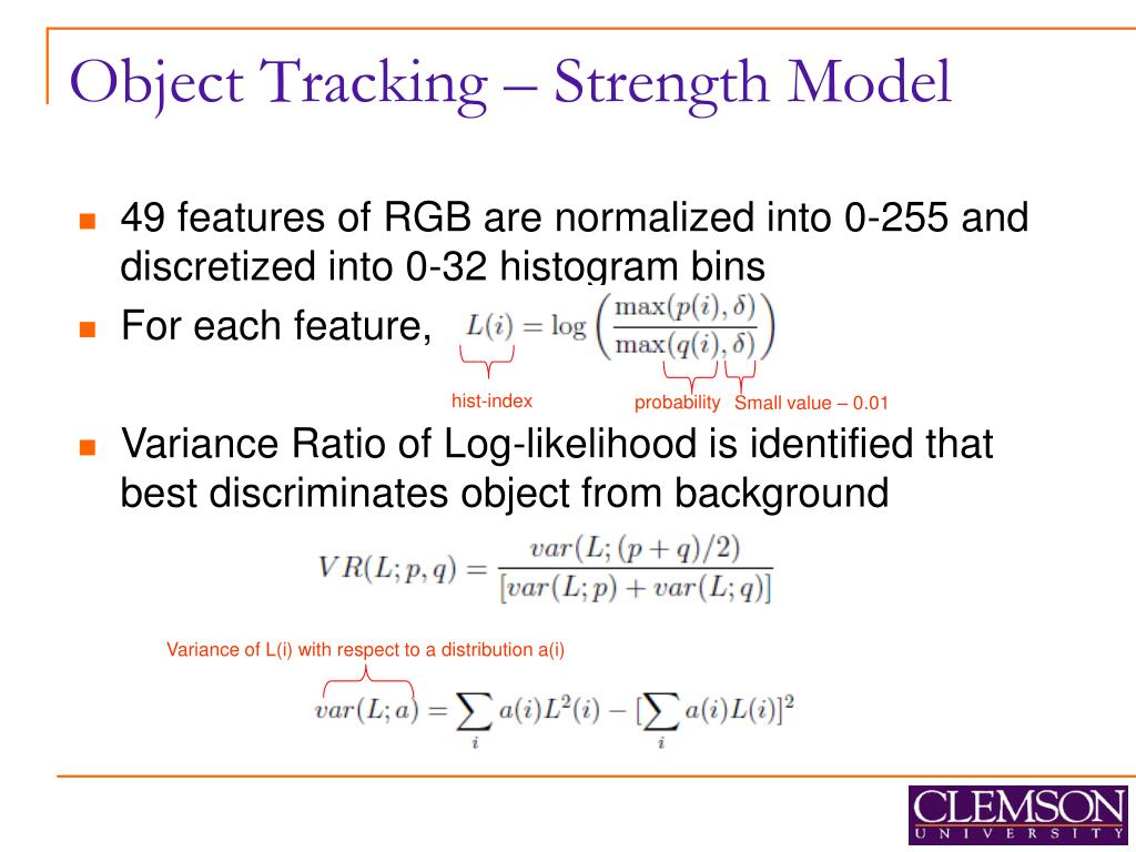 Object Tracking – Strength Model
