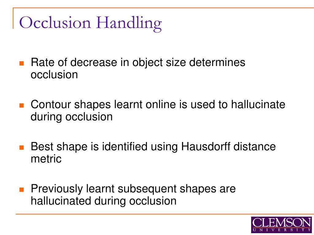 Occlusion Handling