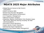 ngats 2025 major attributes