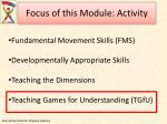 focus of this module activity