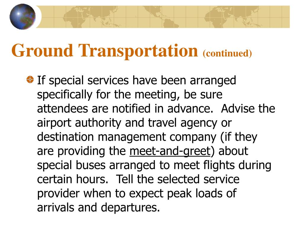 Ground Transportation