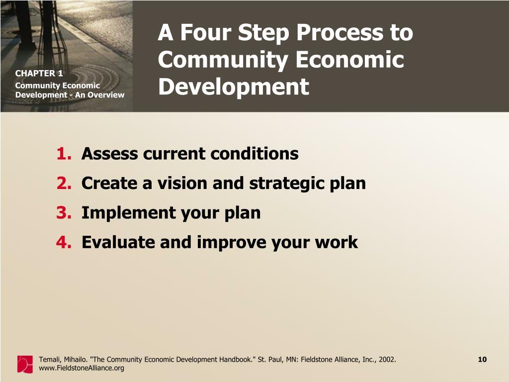 A Four Step Process to Community Economic Development