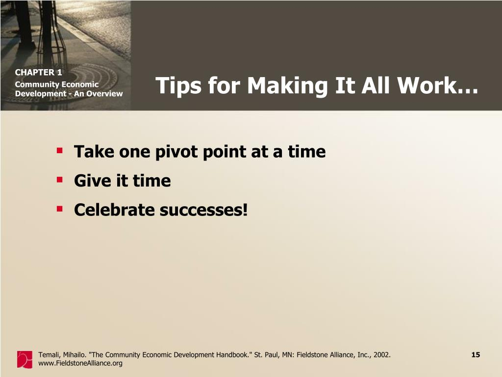 Tips for Making It All Work…