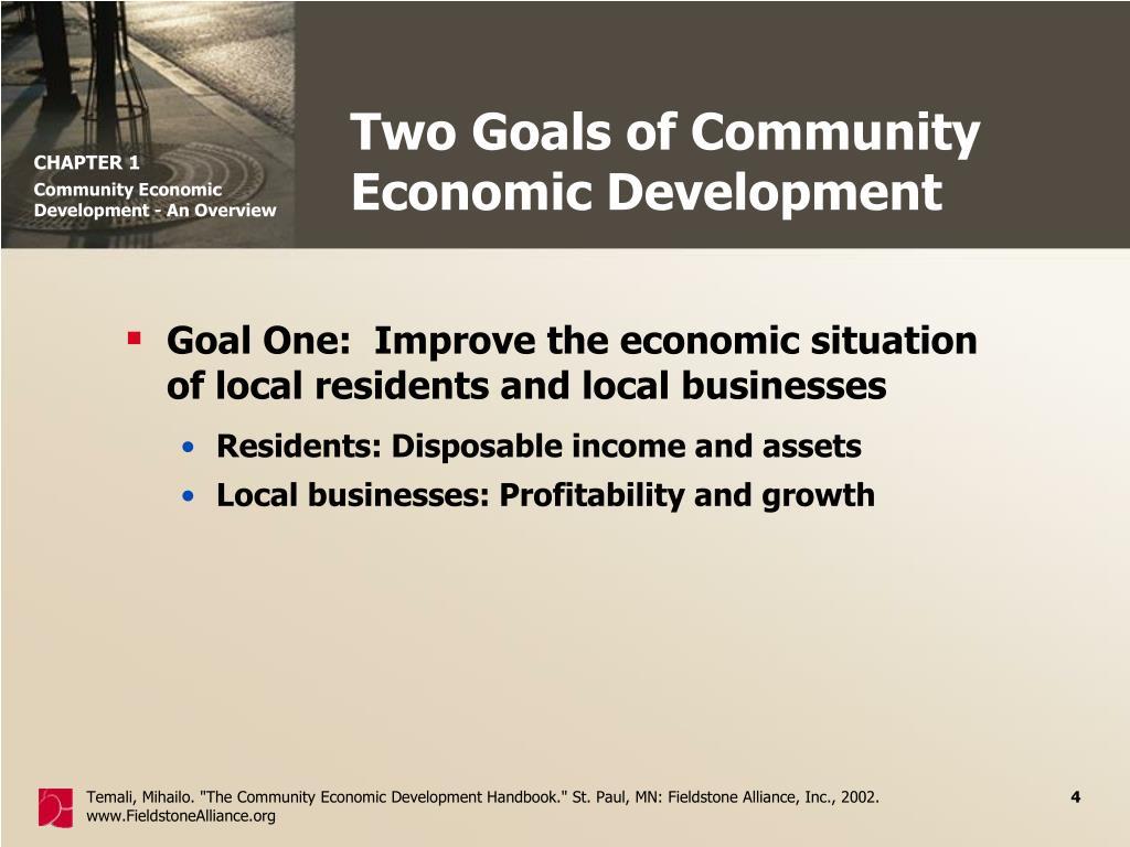 Two Goals of Community Economic Development