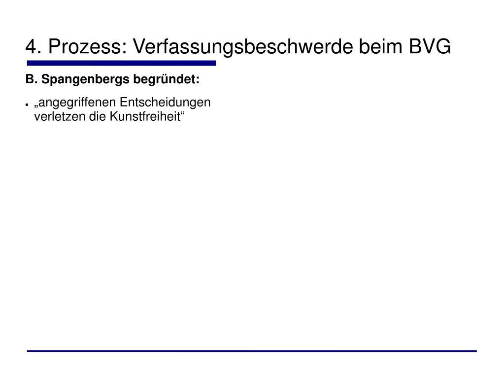 4. Prozess: Verfassungsbeschwerde beim BVG