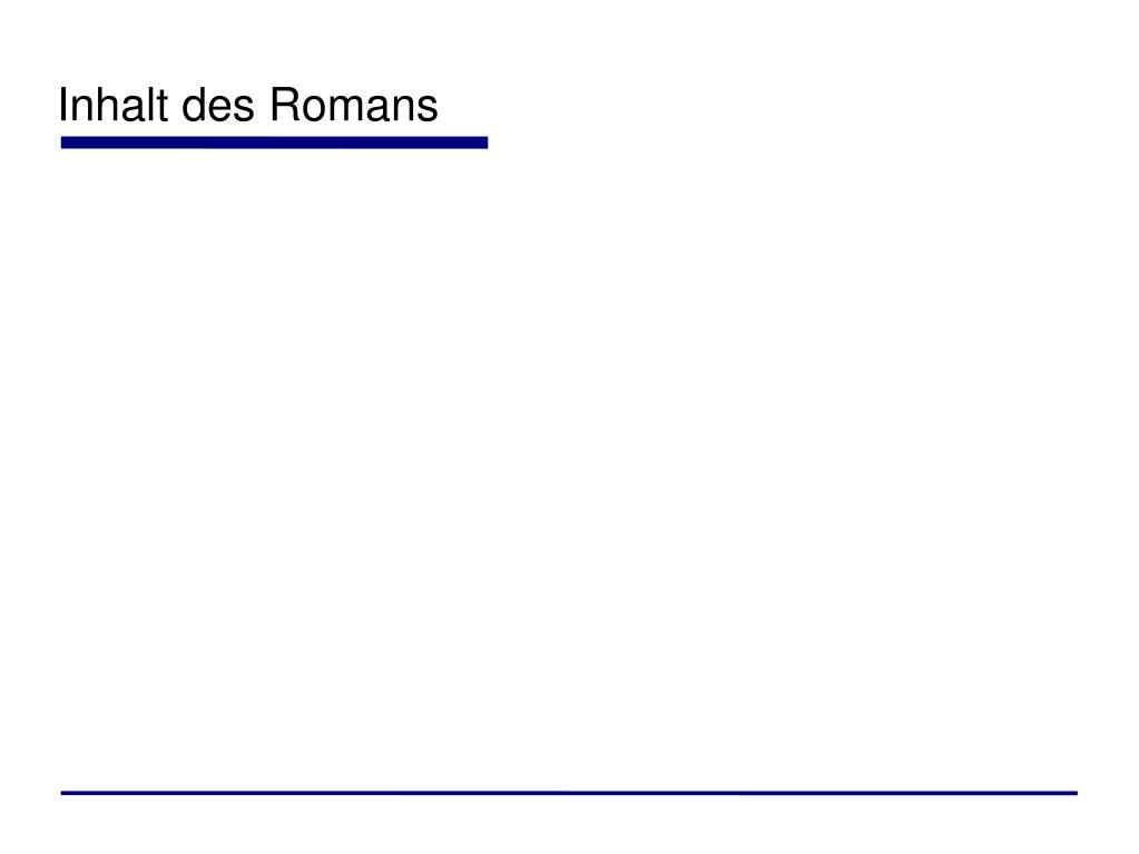 Inhalt des Romans